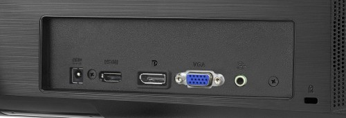 VZ27AQ rear inputs, HDMI, DisplayPort, VGA