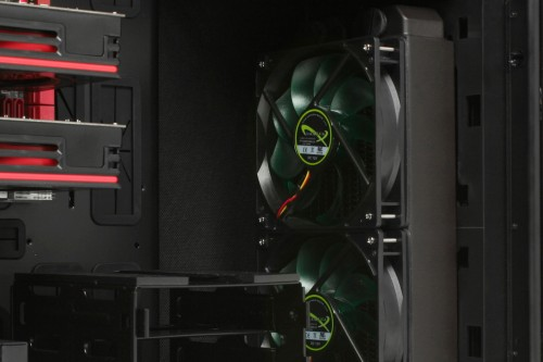 Closeup of front watercooling option