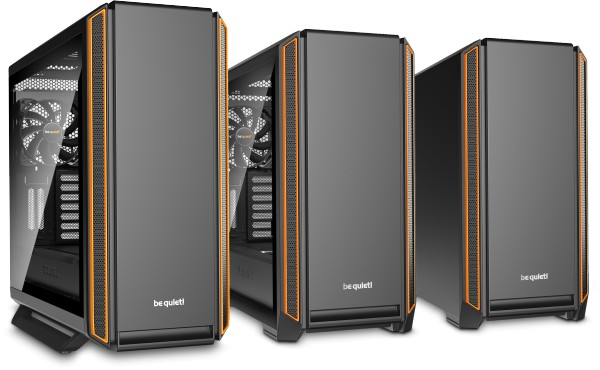 Serenity Pro Gamer is built around either the be quiet Silent Base 800 (right) or 600 (left) chassis